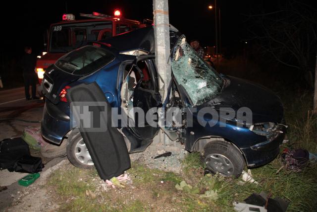To μοιραίο αυτοκίνητο λίγη ώρα μετά το δυστύχημα - ΦΩΤΟ από iliatora.gr