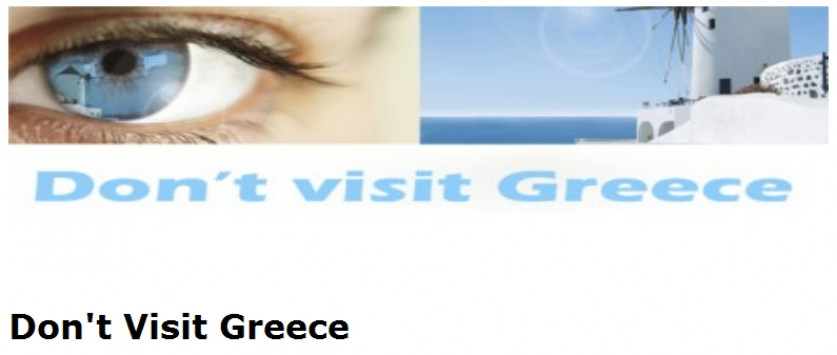 H γκάφα του Μαραθωνίου: `Don't visit Greece`