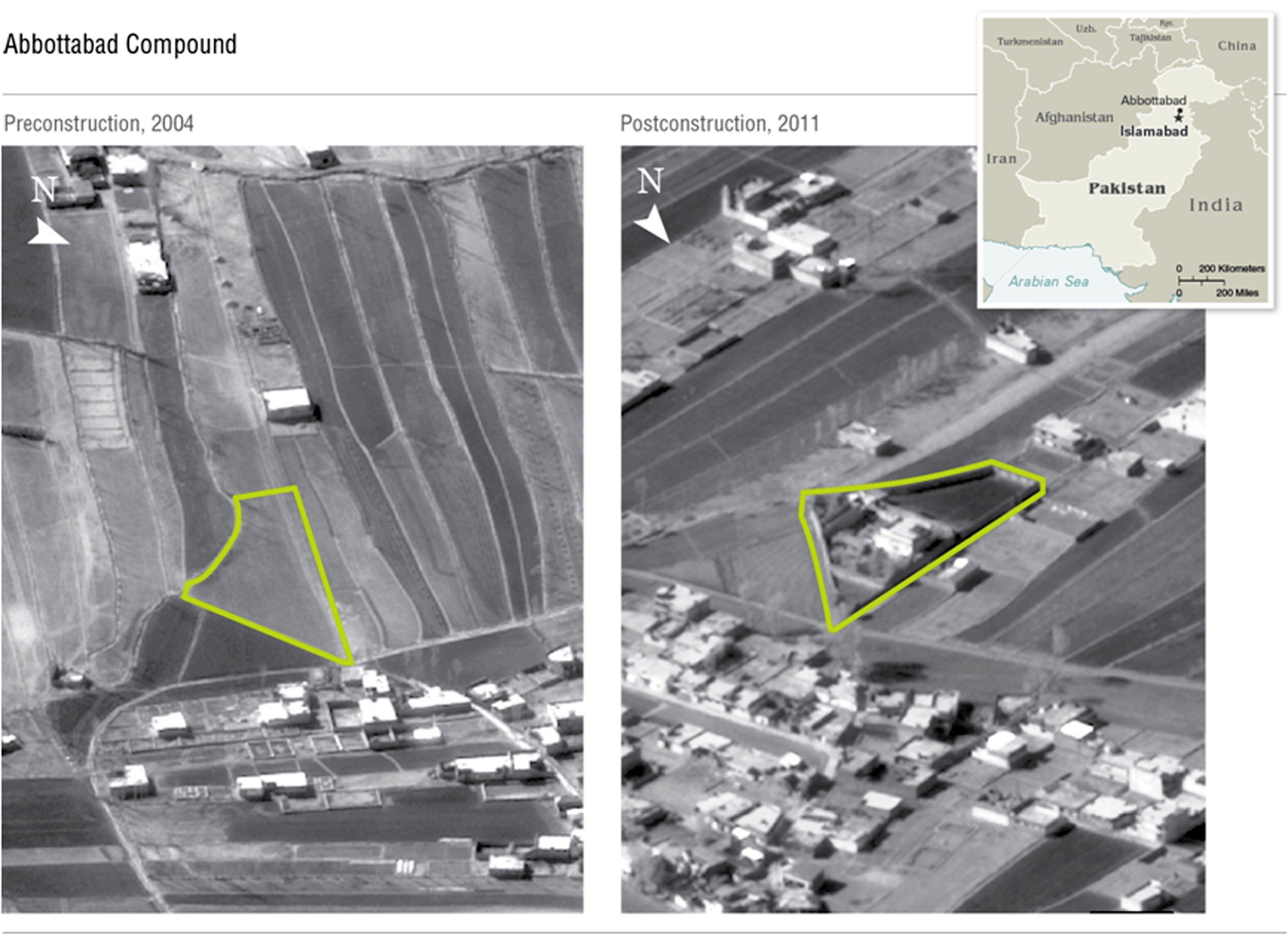 Αερο-φωτογραφία από το σημείο όπου κρυβόταν ο Οσάμα μπιν Λάντεν - ΦΩΤΟ REUTERS