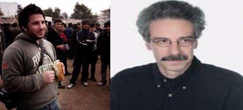 """Αριστερά ο Γιώργος Μουτάφης φωτορεπόρτερ του Βήματος και δεξία ο Πέτρος Παπακωνσταντίνου απεσταλμένος της εφημερίδας """"Καθημερινή"""""""