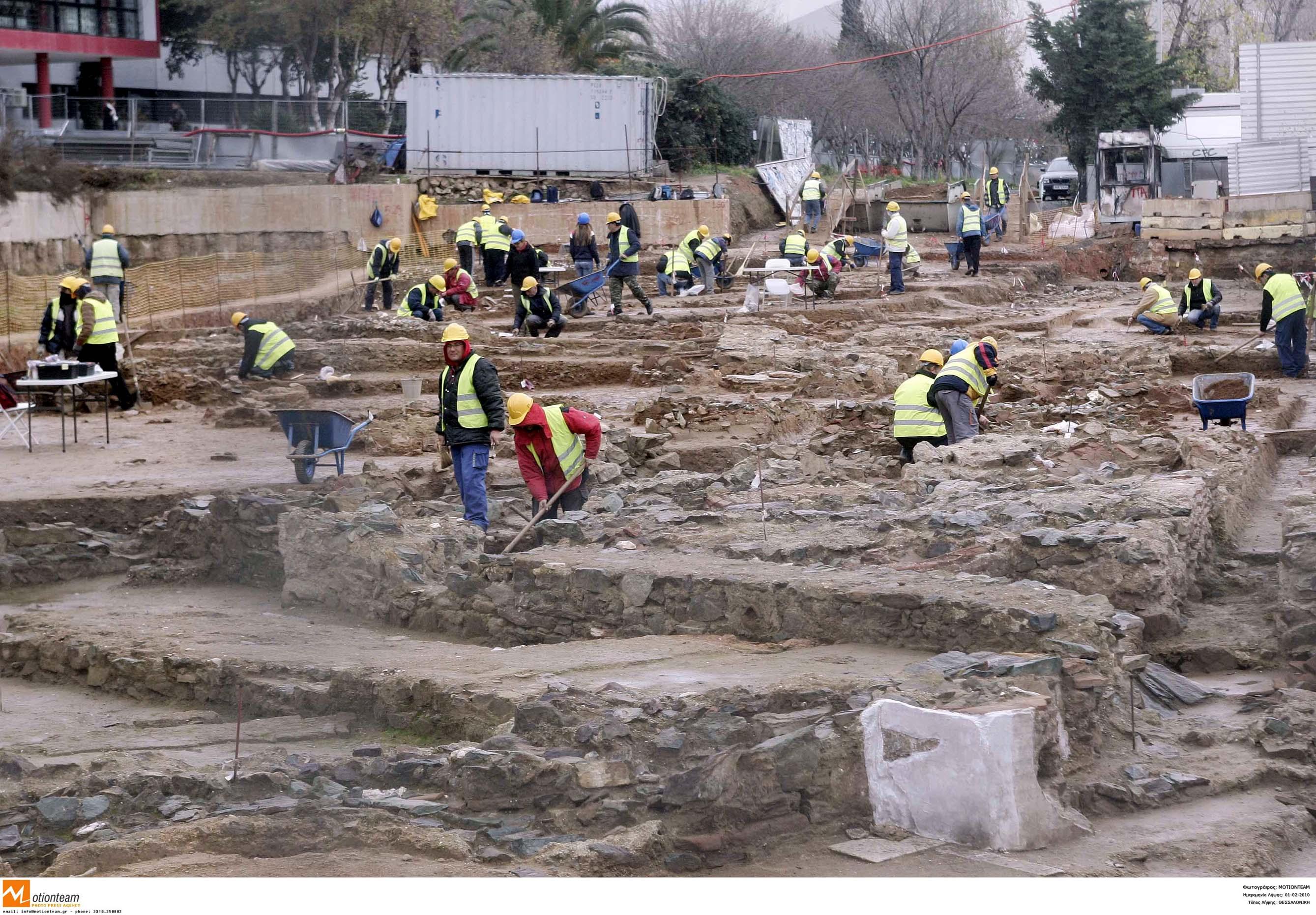 Αρχαιολόγοι στο Μετρό Θεσσαλονίκης...