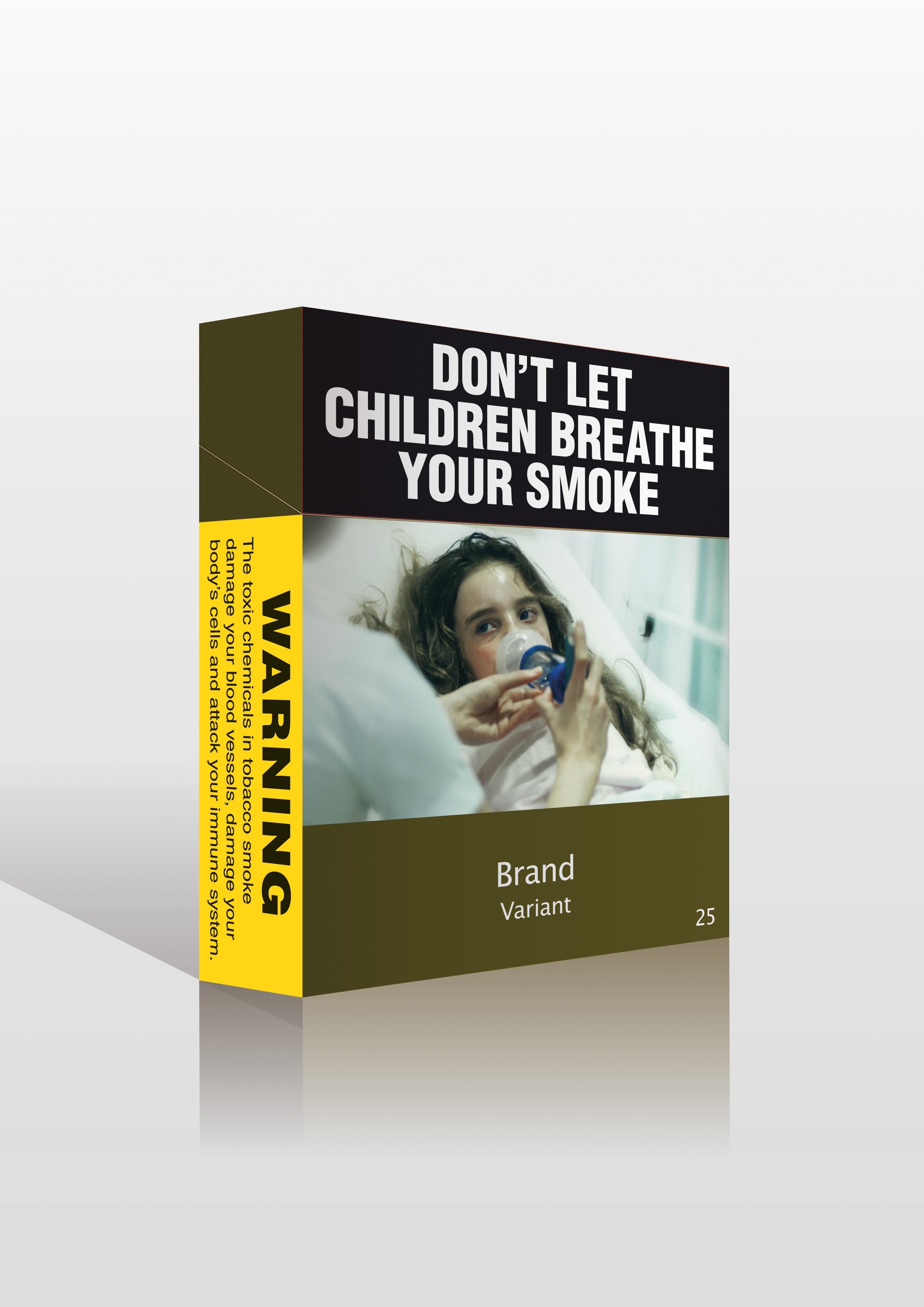 Μην αφήνετε τα παιδιά σας να εισπνέουν τον καπνό σας....