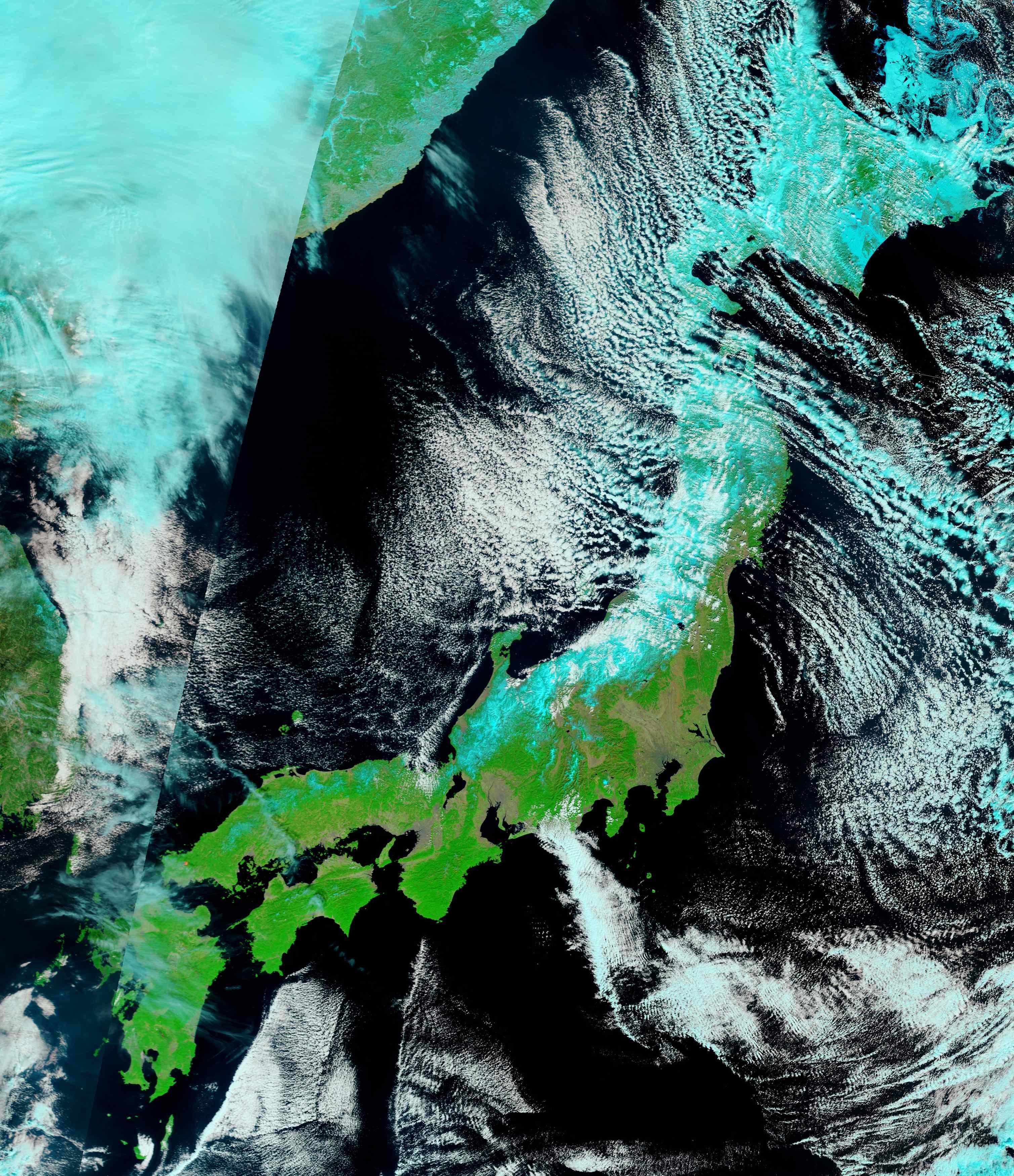 H περιοχή Σεντάι απο το διάστημα όπως φαινόταν στις 26 Φεβουαρίου. ΦΩΤΟ REUTERS