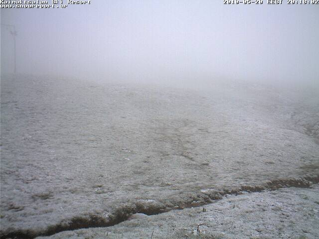 Αυτή είναι η  εικόνα από την κάμερα στο χιονοδρομικό κέντρο του Καϊμάκτσαλαν