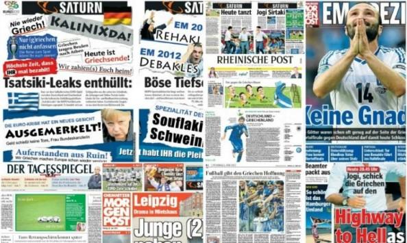 Οι ηλίθιοι Γερμανοί προσβάλουν την Χώρα μας με εμετικούς τίτλους στις εφημερίδες τους. (Μια φορά μ@λ@κες πάντα μ@λ@κες)