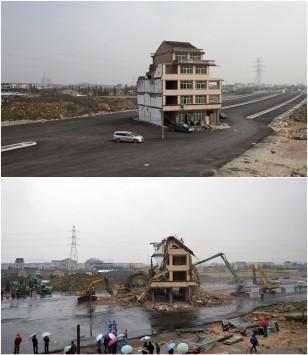 Κατεδαφίστηκε το σπίτι σύμβολο - αντίστασης στην Κίνα! - ΦΩΤΟ