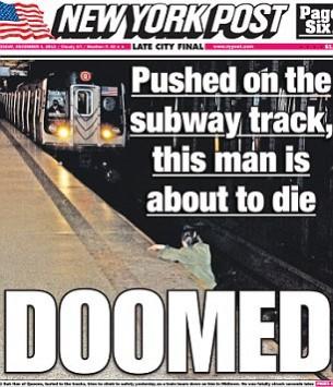 Άφησαν τον άνθρωπο που έπεσε στις ράγες του μετρό να πεθάνει προκειμένου να βγάλουν φωτογραφίες για την εφημερίδα.
