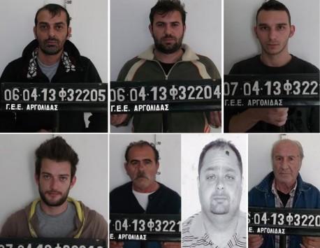 """Αυτοί είναι οι 7 ληστές που """"χτυπούσαν"""" με όπλα σε Αργολίδα και Πειραιά - ΦΩΤΟ"""