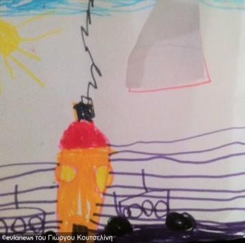 Εύβοια: Η ζωγραφιά και τα λόγια του μικρού μαθητή που συγκίνησαν γνωστό επιχειρηματία - Φωτό!