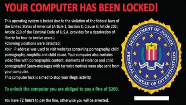 Νέος ιός μπορεί και κλειδώνει τον υπολογιστή και ζητάει χρήματα για να τον ξεκλειδώσει!