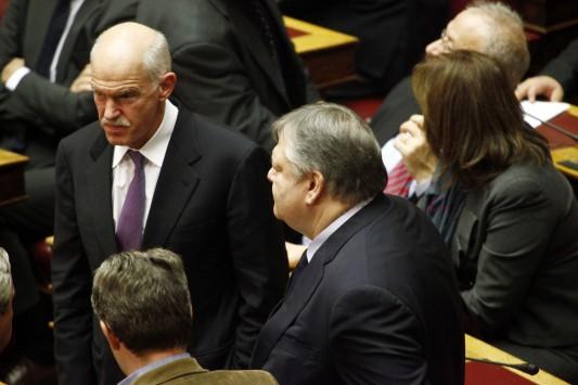Οργή Βενιζέλου για τον Παπανδρέου! Καταψήφισε το άρθρο για τις τράπεζες