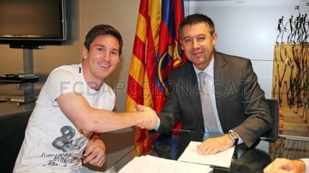 Μπαρτσελόνα: Ο Μέσι υπέγραψε το νέο του συμβόλαιο (ΦΩΤΟ)