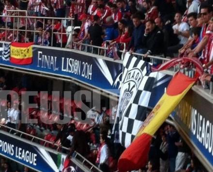 Πανό του ΠΑΟΚ στον τελικό του Champions League (ΦΩΤΟ)