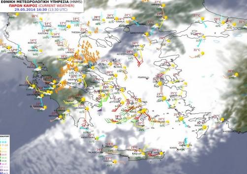 Έκτακτο δελτίο επιδείνωσης του καιρού από την ΕΜΥ – Καταιγίδες, χαλαζόπτωση και ισχυροί άνεμοι θα `χτυπήσουν` Ιόνιο, δυτική και βόρεια Ελλάδα