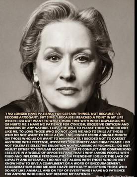 199 λέξεις από την Μέριλ Στρήπ που συγκλονίζουν