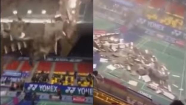 Συγκλονιστικό βίντεο: Κατέρρευσε η οροφή σε γήπεδο γεμάτο κόσμο!
