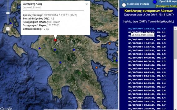 Σεισμός 4.6 Ρίχτερ κοντά στα Καλάβρυτα!