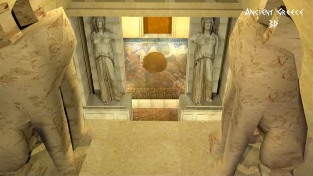Αμφίπολη: Μια εντυπωσιακή τρισδιάστατη αναπαράσταση του τάφου