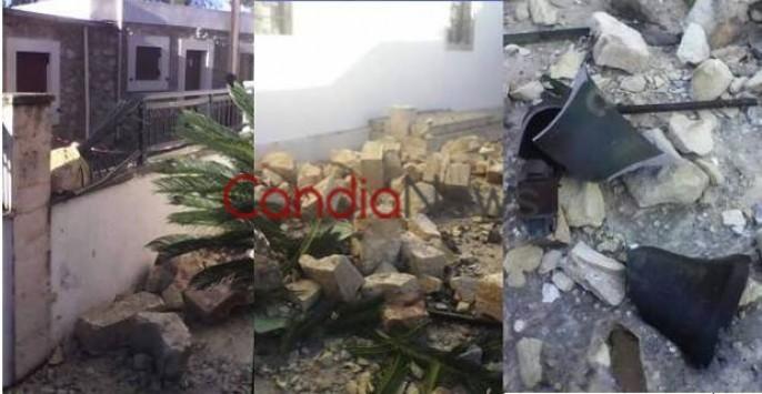 Λασίθι: Κεραυνός διέλυσε το καμπαναριό εκκλησίας - Έσπασε σε κομμάτια και έπεσε στον δρόμο (Φωτό)!