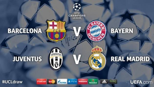 Tα ζευγάρια του Champions League