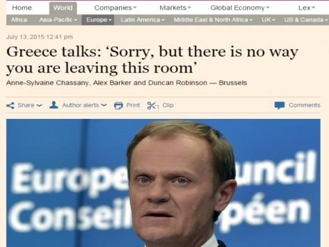 Συμφωνία: Ο Τουσκ κλείδωσε Μέρκελ - Τσίπρα στο δωμάτιο! `Βρείτε τα`
