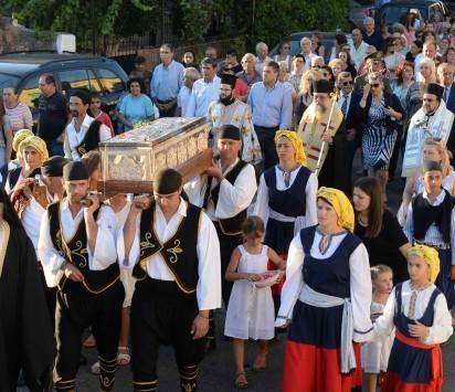 Καλαμάτα: Το σκήνωμα του Αγίου Φλώρου υποδέχθηκε το ομώνυμο χωριό της Μεσσηνίας - Δείτε φωτό!