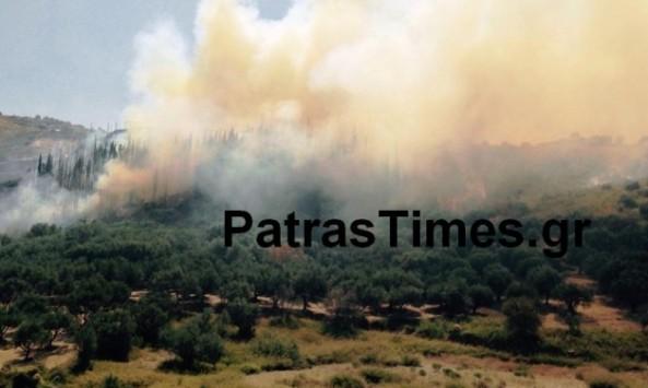 Κάηκε πυροσβεστικό όχημα στη φωτιά της Πάτρας! ΒΙΝΤΕΟ