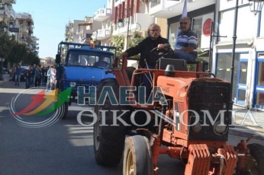 Παρέλαση με... τρακτέρ στον Πύργο - ΦΩΤΟ