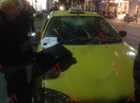 Οπαδοί του Ολυμπιακού παραλίγο να κάψουν Κροάτες μέσα σε ταξί στην Ερμού - ΦΩΤΟ