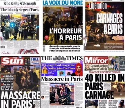 Παρίσι: Πρωτοσέλιδος θρήνος - Τι γράφουν γαλλικές και βρετανικές εφημερίδες για το μακελειό
