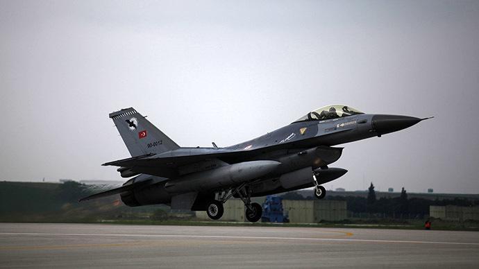 Αεροσκάφος τ'υπου F16 πανομοιότυπο με εκείνα που κατέρριψαν το ρωσικό πολεμικό