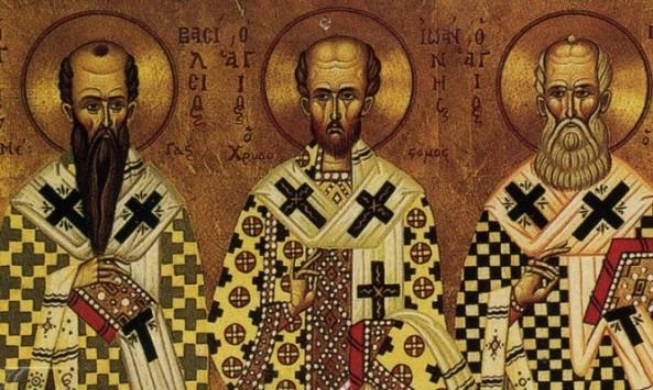 Σήμερα 30 Ιανουαρίου εορτάζουν οι Τρεις Ιεράρχες