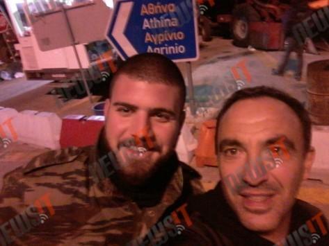 Ο Νίκος Αλιάγας στο μπλόκο των αγροτών στο Μεσολόγγι! ΦΩΤΟ