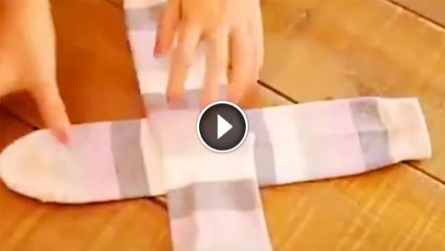 Διπλώνετε τις κάλτσες σας τόσο καιρό με τον λάθος τρόπο! (βίντεο)