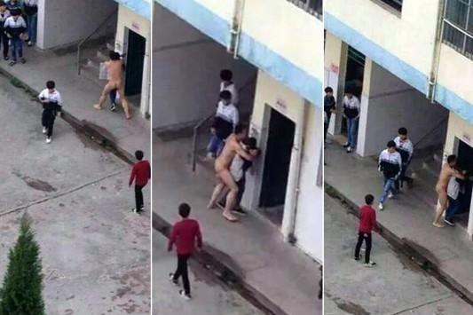 Εικόνες σοκ - Γυμνός καθηγητής προσπαθεί να βιάσει μαθήτρια!