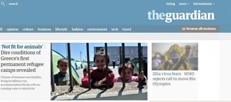 Guardian για τις συνθήκες στα κέντρα φιλοξενίας των προσφύγων: Ούτε σε ζώα δεν θα συμπεριφέρονταν έτσι!