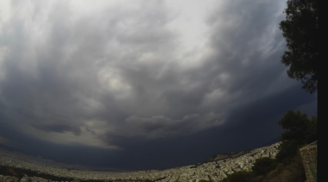 Καιρός: Συγκλονιστικό βίντεο του Αστεροσκοπείου της Αθήνας από τη χθεσινή σφοδρή καταιγίδα!