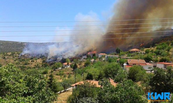 Ανεξέλεγκτη φωτιά στον Πάρνωνα (ΦΩΤΟ, ΒΙΝΤΕΟ)