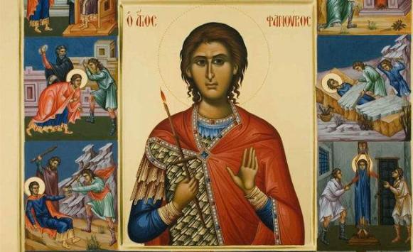 Η εικόνα του Αγίου Φανουρίου που μαρτυρά τη ζωή του