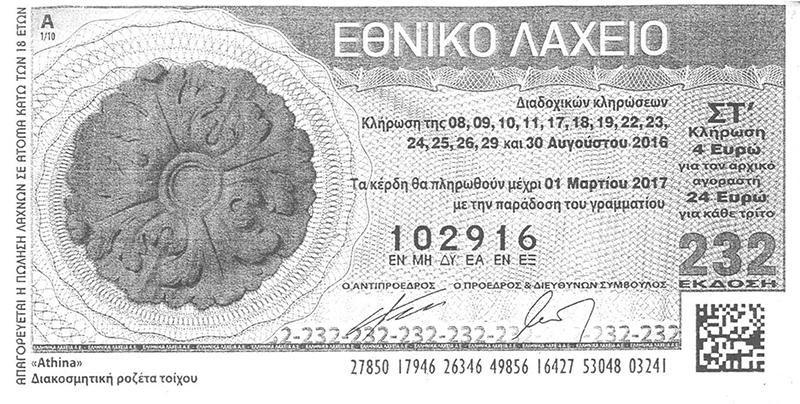 Ο τυχερός αριθμός του λαχείου - ΦΩΤΟ από eleftheriaonline.gr