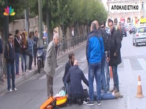 Ο Τάσος Γιαννίτσης ενεπλάκη σε τροχαίο έξω από τη Βουλή [vid]