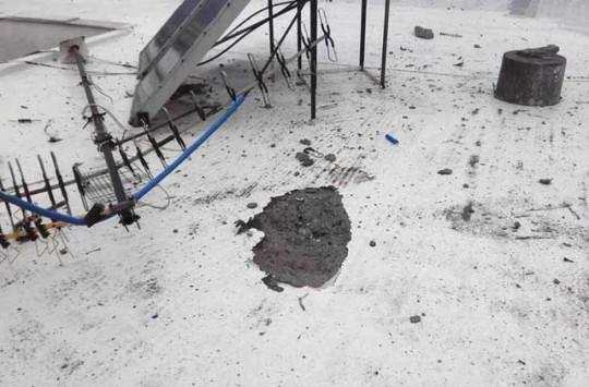 Τρόμος στο Βόλο - Κεραυνός χτύπησε πολυκατοικία