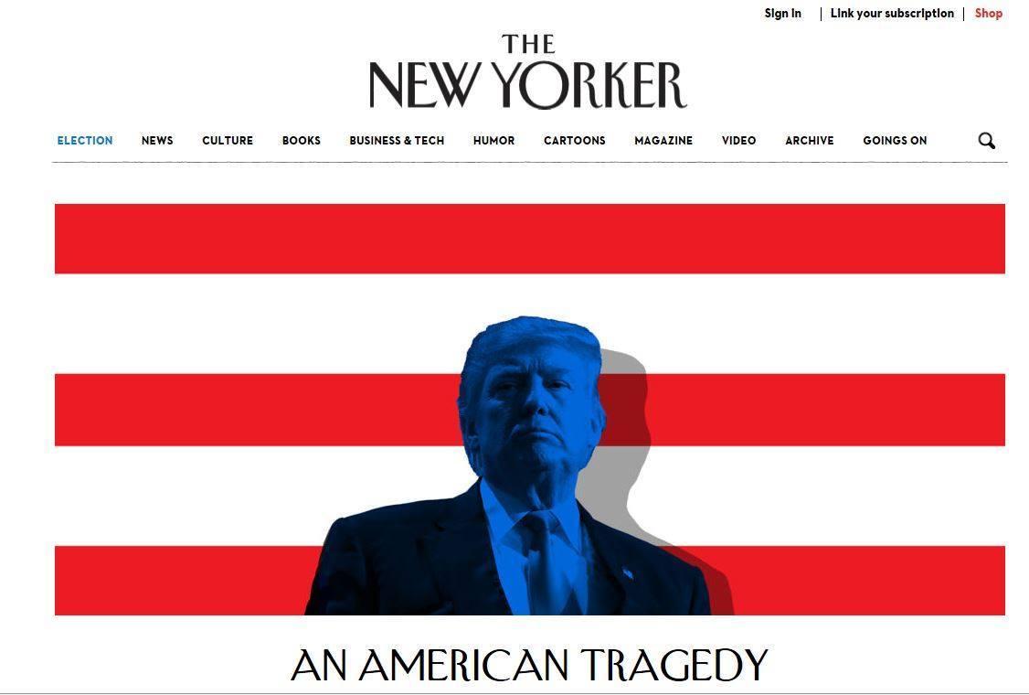 Η αρχική σελίδα του newyorker.com