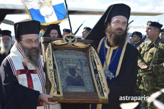 Χίος: Η εικόνα της Παναγίας Σουμελά έφτασε στο νησί - Υποδοχή με τιμές αρχηγού κράτους [pics, vid]