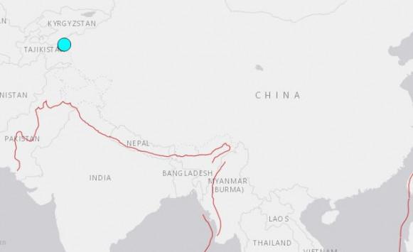 Μεγάλος σεισμός στα σύνορα Κίνας – Τατζικιστάν