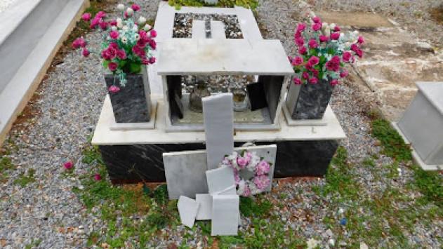 Μυτιλήνη: Βανδαλισμοί στο νεκροταφείο της Μόριας - Ανάστατοι οι κάτοικοι της περιοχής [pics]