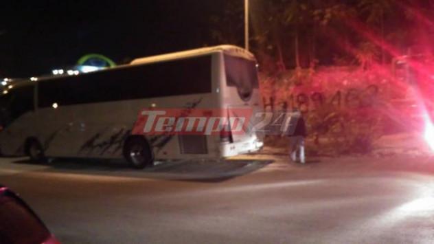 Λεωφορείο του ΚΤΕΛ λαμπάδιασε εν κινήσει στην Πάτρα! [vid]