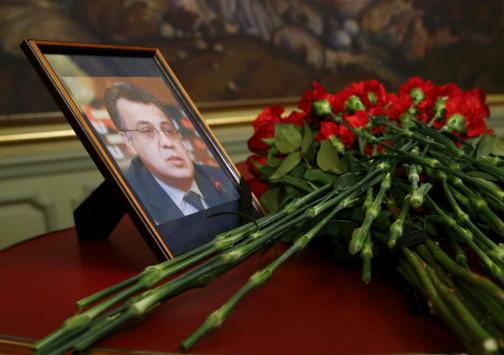 Βιβλίο συλλυπητηρίων για τον Καρλόφ στη ρωσική Πρεσβεία της Αθήνας