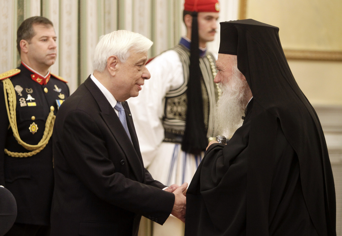 Με τον Αρχιεπίσκοπο Ιερώνυμο