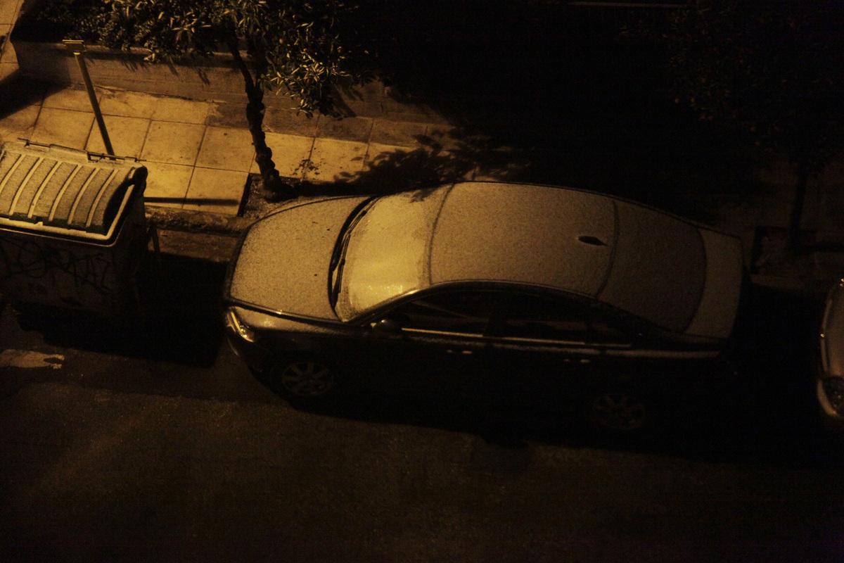 Χιόνια στην Κυψέλη (Φωτό από Eurokinissi)